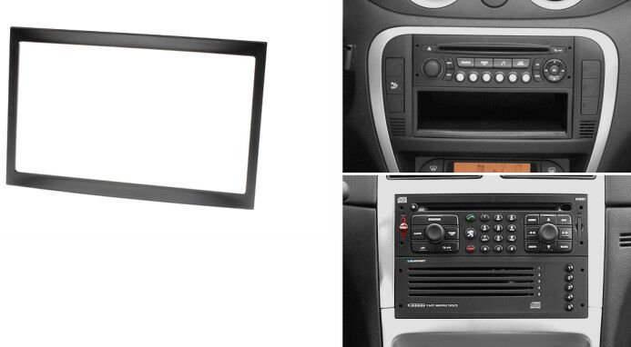 2 Din Radio Fascia For Citroen C2 C3 Jumpy Peugeot 207 307