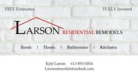 Booking spring roofing now - Larson Residential Remodels