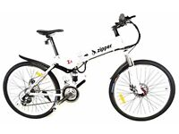 NEW Z4 21 SPEED FOLDING ELECTRIC MOUNTAIN BIKES - FREE UK DELIVERY