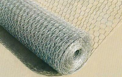 3FT Chicken Rabbit Wire Fencing 900mm 1/2 inch hole 50 meter roll  GALVANISED