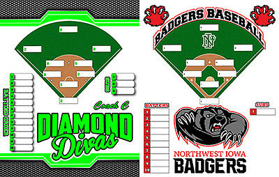 Baseball Eraser (Personalized magnetic dry erase coaches lineup board for softball, or baseball )