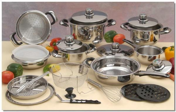 Cookware 22pc Surgical Stainless Steel Set of pots and pans