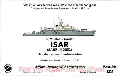 Wilhelmshavener Modellbaubogen 1235 - Bundesmarine Tender Isar - 1:250