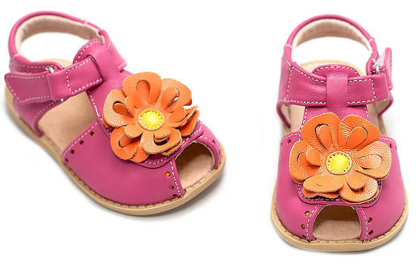 Livie and Luca Flower Sandals and Crib Shoes for Girls