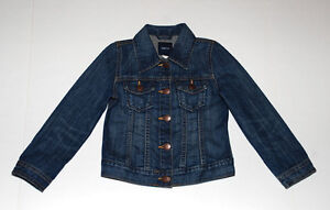 Girls GAP Vintage Distressed Classic Denim Jacket Size XS 4-5 Yr