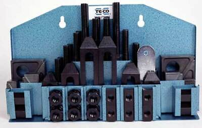 52 Pc. Te-co 58 X 12-13 Workholding Machinist Clamp Kit For Bridgeport Mill