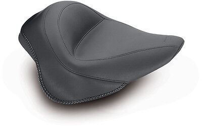 Mustang Wide Vintage Touring Solo Seat Harley Softail Blackline   Slim