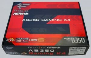 ASRock | aB350 Gaming K4 FATAL1TY | ATX/AM4 Motherboard