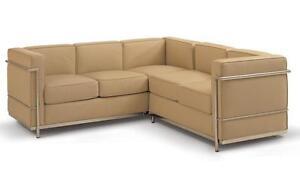 LC2 L-Shape Corner Sofa - Full Italian Genuine Leather - Office Sofa