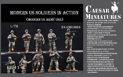 Caesar Miniatures HB11 Modern US Soldiers 1/72 Scale Plastic Model Figures