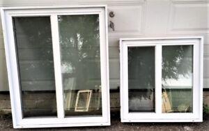 Lot de 2 fenêtres thermos coulissantes de qualité à vendre
