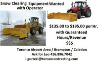 Snow Clearing Equipment wanted with operator