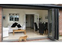 NEW 4 Door Bi Folding Doors With Laminated Glass