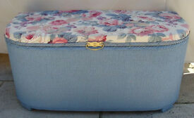 Kraft lloyd Loom Style Bow Fronted Ottoman / Blanket Box ~ Refurbished