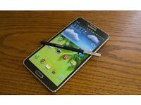 SAMSUNG NOTE 3 black Unlocked 32 GB + wireless charging back cover.