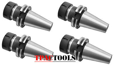 Cat40 Er40 Precision Cnc Collet Chuck 20000 Rpm 4pc New
