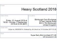 1x Heavy Scotland ticket