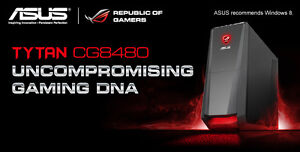 "ASUS ROG I7/16GB RAM/SSD/MS/KB/27"" Monitor"