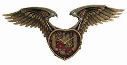 Steampunk Winged Heart Wall Clock