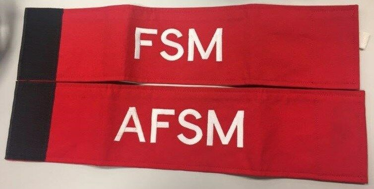 Custom Made Security Arm bands and security fire warden with reflectors