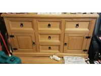 Mexican pine large side board