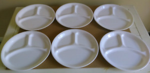 """Corelle 10.25"""" Winter Frost White Divided Plates"""