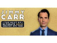 2x Jimmy Carr tickets SECC Glasgow 6th row from front in goldilocks zone!!