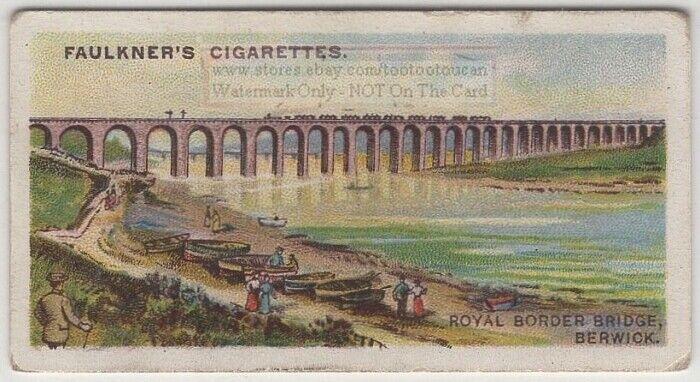 Royal Border Viaduct Bridge Berwick-On-Tweed England 1920s Ad Trade Card