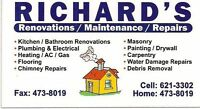 Renovations/Maintenance/On Call Emergency