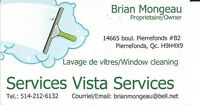 Window cleaning services/Lavage de vitres