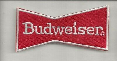 NEW 2 1/8 X 4 1/4 INCH BUDWEISER BOW TIE IRON ON PATCH FREE SHIP CP1