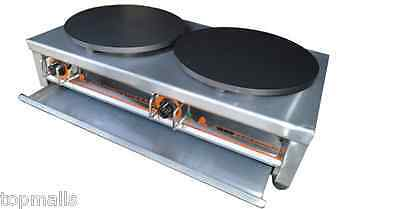 Commercial Double Electric Crepe Maker Pancake Pan Griddle Machine 220v