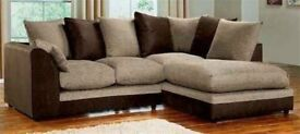 Amazing Fabric(Jumbo Cord/Chinnel) BYRON Jumbo Cord Corner or 3 and 2 Seater Sofa Suite