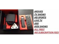AMAZON FIRE STICK✔KODI FULLY LOADED✔FREE Movies✔Live TV✔SPORTS✔PPV✔MODBRO✔NO SUBS✔EASY TO USE!!