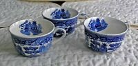 Vintage Blue Willow Tea Cups (3) Made in Japan
