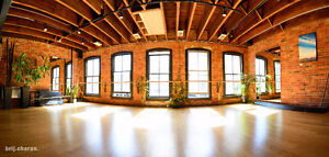 15,000 square feet of unique studio space for hourly rent.