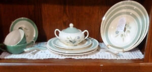 WOOD AND SONS - CLOVELLY PARTIAL SET, SUGAR BOWL & LID