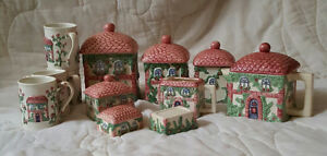 Vintage Avon China Canister Set