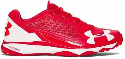 Under Armour Men's Deception Trainer Baseball Shoe, Red/White, 10 D(M) US