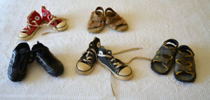 Sneakers, Sandals, and Soccer Cleats, size 8 children's size