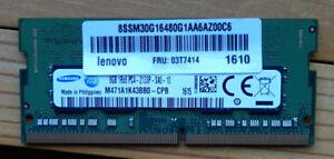 2 barettes de mémoire DDR4  sodimm  8gb