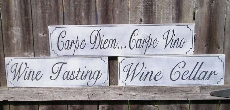 HP WINE TASTING Wood Sign Custom Colors Customized
