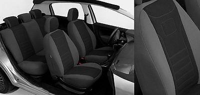 Sitzbezüge Sitzbezug Schonbezüge für Fiat Stilo Hellgrau Sportline Komplettset