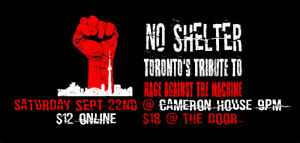 Rage Against The Machine Tribute: No Shelter at Cameron House