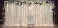 WEDDING DECORATION, EVENT DECOR & FLOWER, DRAPING, CHAIR COVER