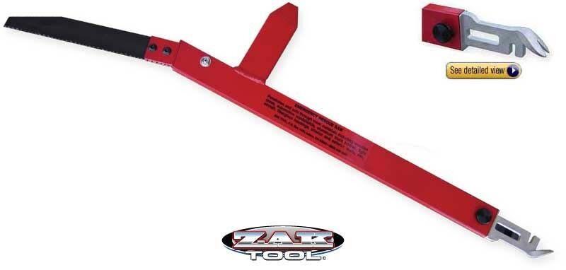 Zak Tool Rescue Saw, 4-in-1 Tool, Window Braker, Prybar ZT58