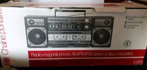 Vintage Dual Double Cassette Stereo System