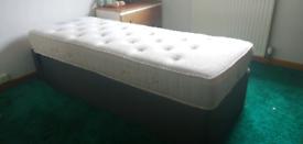 Adjustable single bed.