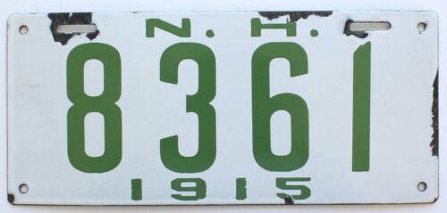 New Hampshire 1915 Porcelain License Plate, Antique, Sign, 4-Digit