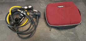 Diving Scubapro regulator set includes dry suit connector.
